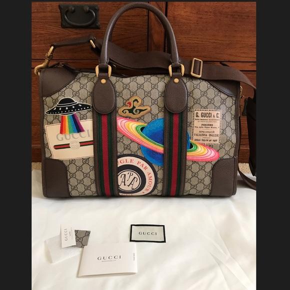 91f808da24a8 Gucci Courier Soft GG Supreme Duffle Bag